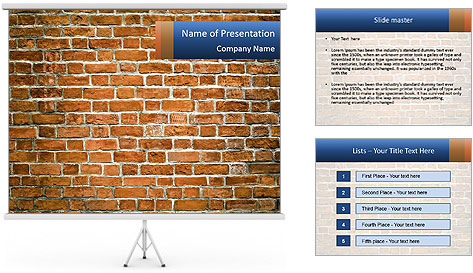 Brown Brick Wall PowerPoint Template
