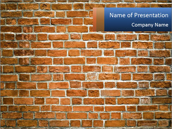 Brown Brick Wall PowerPoint Templates - Slide 1