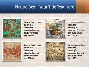 Brown Brick Wall PowerPoint Template - Slide 14