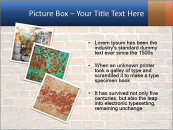 Brown Brick Wall PowerPoint Templates - Slide 17
