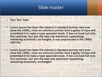 Brown Brick Wall PowerPoint Templates - Slide 2