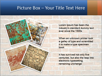 Brown Brick Wall PowerPoint Template - Slide 23