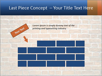 Brown Brick Wall PowerPoint Template - Slide 46