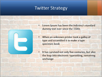 Brown Brick Wall PowerPoint Template - Slide 9