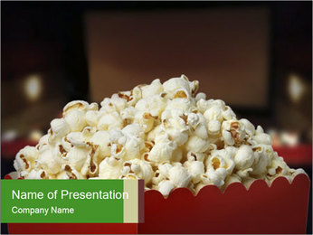 Popcorn Container PowerPoint Template - Slide 1