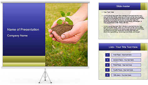 Green Plant Protection PowerPoint Template