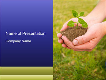 Green Plant Protection PowerPoint Template - Slide 1