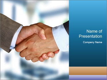 Businessmen Shake Hands PowerPoint Template - Slide 1