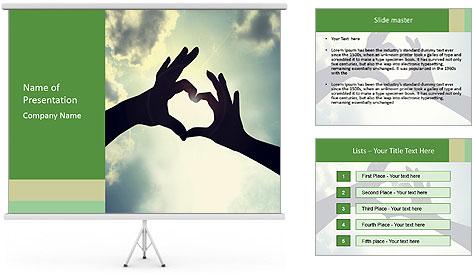 Heart In Sky PowerPoint Template