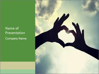 Heart In Sky PowerPoint Template - Slide 1