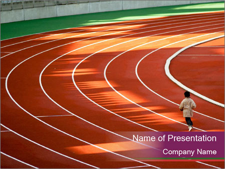 Running Marathon PowerPoint Template