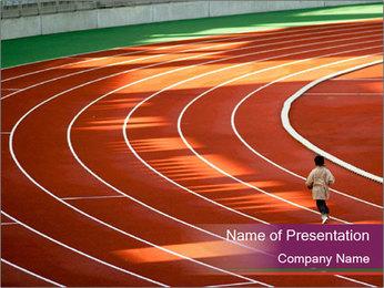 Running Marathon PowerPoint Template - Slide 1