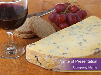 French Wine And Cheese PowerPoint Template - Slide 1