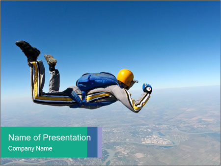 Jump With Parachute PowerPoint Templates