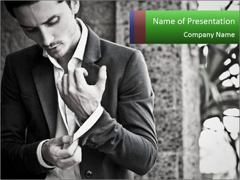 Handsome Man PowerPoint Template - Slide 1