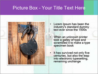 White And Green Door With Lock PowerPoint Templates - Slide 13