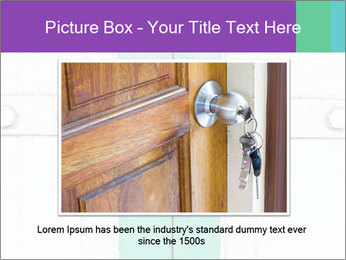 White And Green Door With Lock PowerPoint Templates - Slide 15