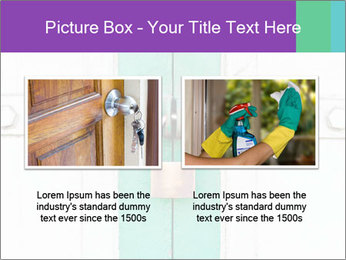 White And Green Door With Lock PowerPoint Templates - Slide 18