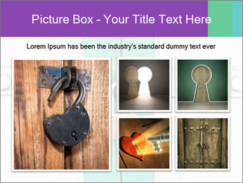 White And Green Door With Lock PowerPoint Templates - Slide 19