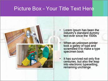 White And Green Door With Lock PowerPoint Templates - Slide 20