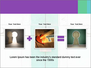 White And Green Door With Lock PowerPoint Templates - Slide 22