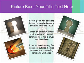 White And Green Door With Lock PowerPoint Templates - Slide 24