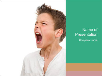 Shouting Boy PowerPoint Templates - Slide 1