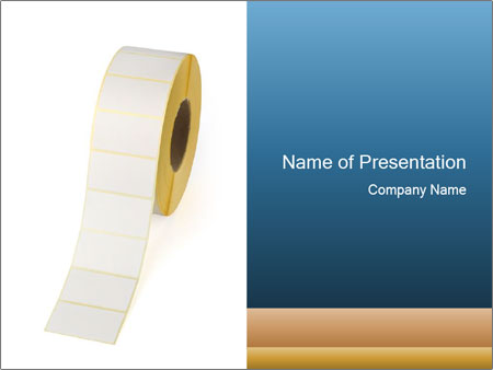 White Sticky Roll PowerPoint Templates