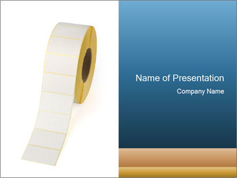 White Sticky Roll PowerPoint Template - Slide 1