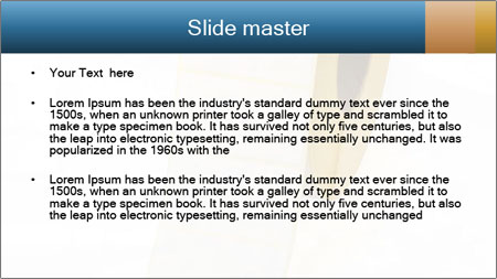 White Sticky Roll PowerPoint Template - Slide 2