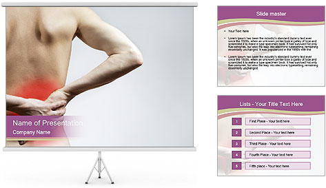 Injured Lowerback PowerPoint Template