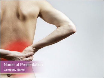 Injured Lowerback PowerPoint Template - Slide 1