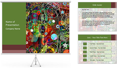 Graffiti collage PowerPoint Template