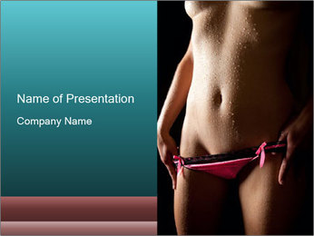 Woman Spripping PowerPoint Template - Slide 1