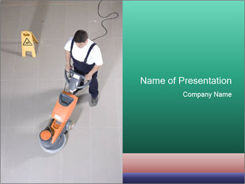 Busy Cleaner PowerPoint Template - Slide 1