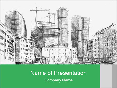 City Sketch PowerPoint Template