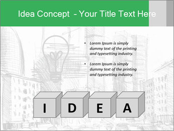 City Sketch PowerPoint Template - Slide 80