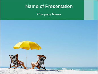 Beach And Honeymoon PowerPoint Template - Slide 1