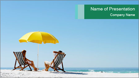 Beach And Honeymoon PowerPoint Template