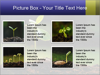 New Green Plant PowerPoint Template - Slide 14