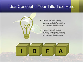 New Green Plant PowerPoint Template - Slide 80