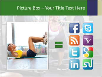 Woman Gym Workout PowerPoint Template - Slide 21