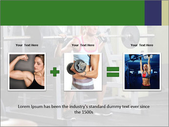 Woman Gym Workout PowerPoint Template - Slide 22