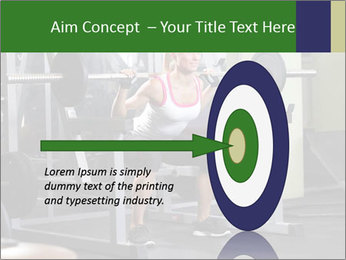 Woman Gym Workout PowerPoint Template - Slide 83