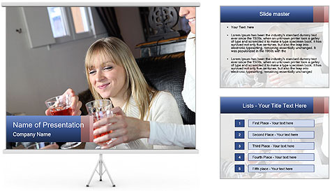 Friends Drink Together PowerPoint Template