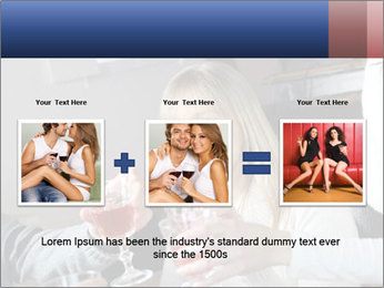 Friends Drink Together PowerPoint Template - Slide 22