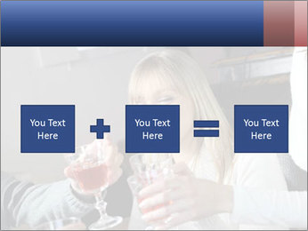 Friends Drink Together PowerPoint Template - Slide 95
