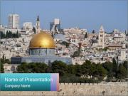 View of Jerusalem PowerPoint Templates
