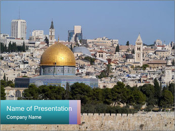 View of Jerusalem PowerPoint Template - Slide 1