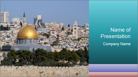 View of Jerusalem PowerPoint Template